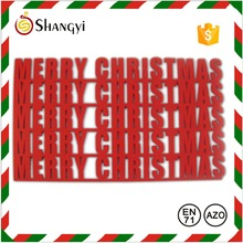 Red Laser Cut new design 3d Christmas Felt Placemat
