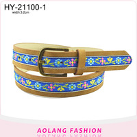 National wind/PU women new fashion ladies fancy belt belts and accessories