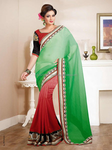 New Indian Bollywood Fancy Sari Designer Stylish party wear Exclusive Saree