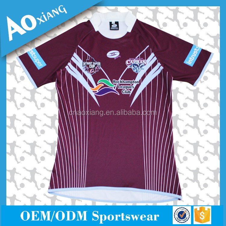Cheap full sublimated China rugby jersey for club