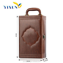 Portable leather wine carrier, portable wine box