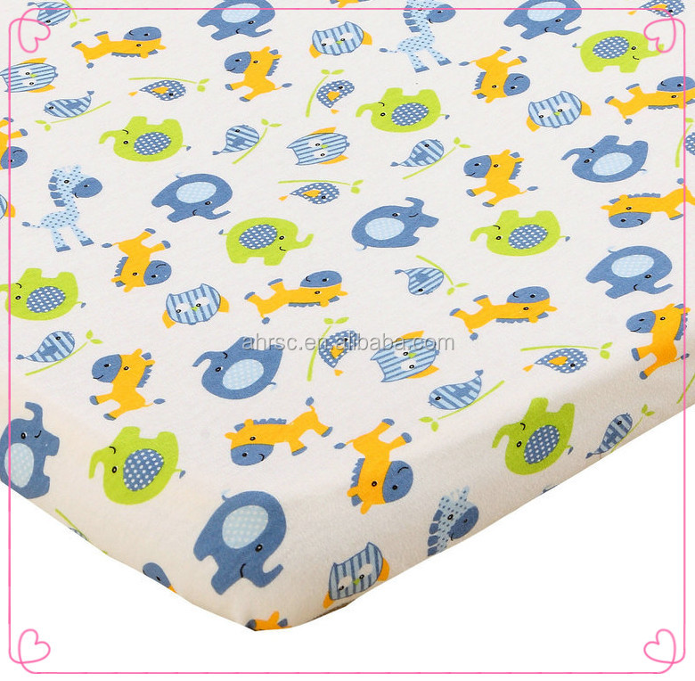 baby cotton fitted crib cover baby printed cot bed sheet