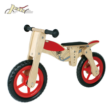 "Motorcycle 12"" Kids Balance Wooden Bicycles for Balance Education as Kids Toy"