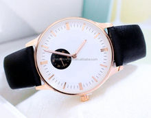 two hands big face sports more fashion watch waterproof with leather strap one eyes watch