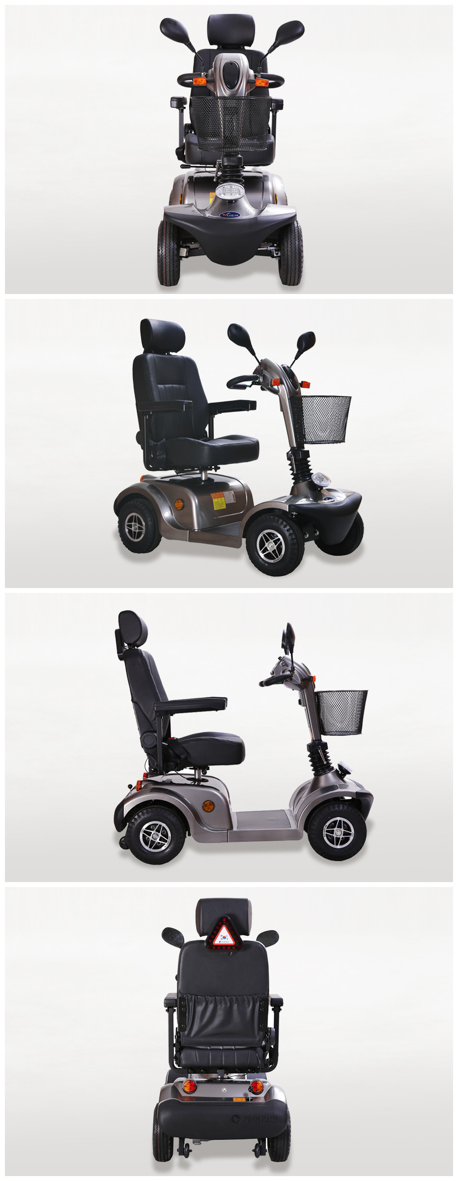handicaped scooter for disabled man involving in social life