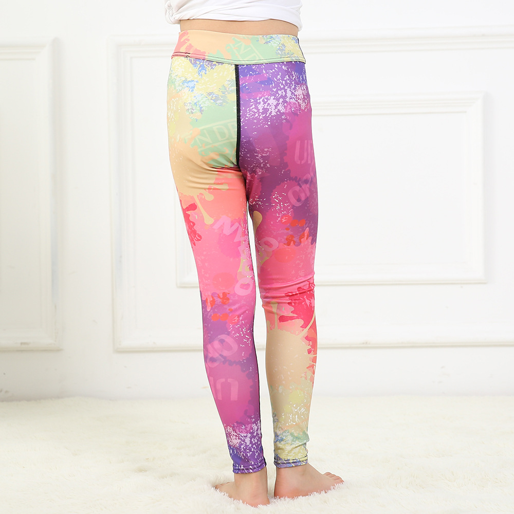 New children's cute description painted quick-drying breathable yoga pants