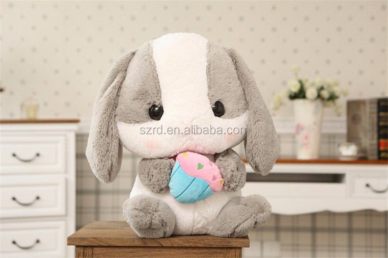 long ears bunny toys/colorful plush rabbit/soft cute rabbit toy for baby