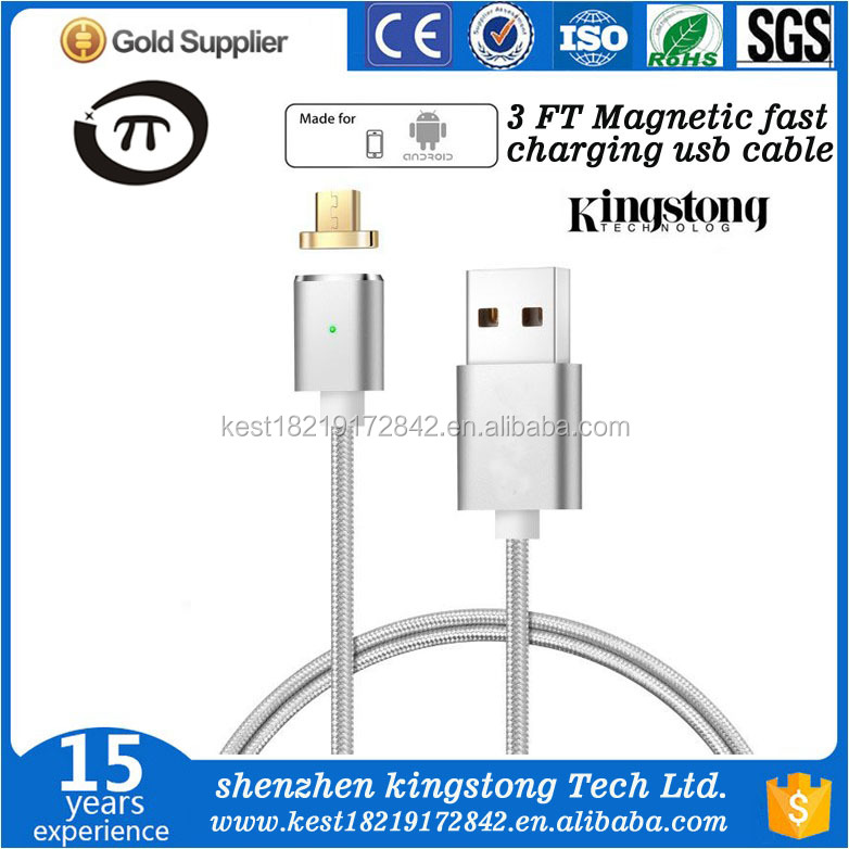 Factory Quick Charging Micro USB Charging Cable Magnetic Adapter Charging For Android