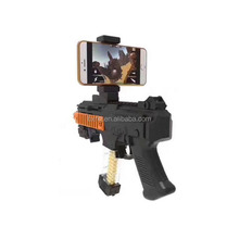 Latest blue tooth shooting game player AR game toy gun diy wood electronic 3d ar-gun