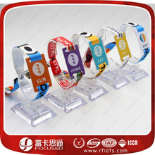 13.56Mhz Full color printing rfid custom fabric nfc wristbands