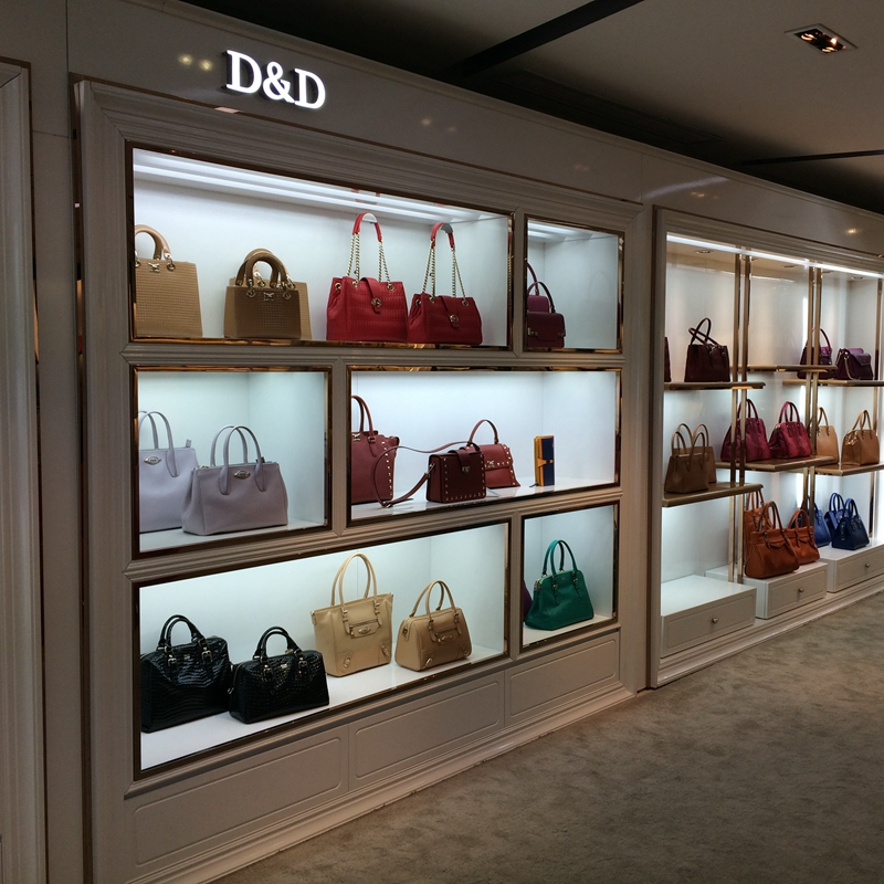Custom Contemporary Handbag Store Decoration Bag Store Shelves For Handbag Shop <strong>Displays</strong>