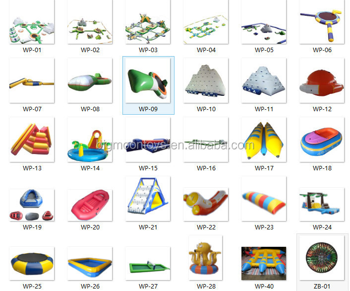 2016 Amusement hot giant used inflatable water slide for sale