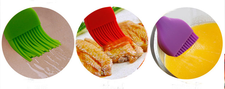 100% food grade silicone barbecue oil basting brush for cooking baking