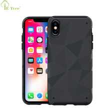 Sublimation Diamond Triangle Pattern Soft Matte TPU Mobile Case Phone Cover For iPhone X