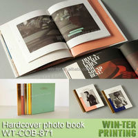 WT-COB-871 professional hardcover photo book printing with slipcase