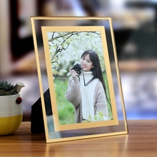 Popular crystal glass photo frame