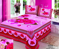 coloring sheet bedding set queen size bed cover luxury bedding set of cotton and polyester fabric