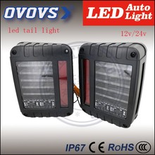 OVOVS New Product 12V 24V led tail light for j-eep wrangler rear light with running brake trun reverse signals lamps