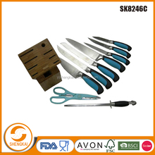 10 pcs kitchen knife set in TPR handle