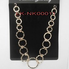 2012 latest long chain O-ring necklace