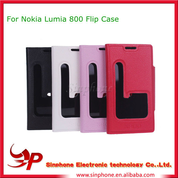 Flip case For Nokia Lumia 800 Mobile Phone Accessories
