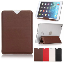 Luxury universal 10 inch folding stand PU grain tablet for iPad leather case