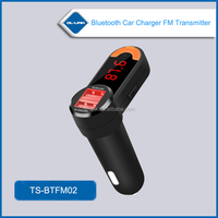 Factory supply, LED Display bluetooth handsfree car kit fm transmitter for cell phone fm Transmitter Bluetooth with dual USB
