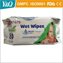 99% aqua and fragrance free baby wet wipe