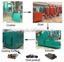 Coal briquette production line /charcoal line for charcoal making plant with capacity 3ton/day
