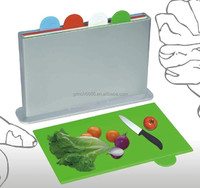 Plastic Color Coded Index Chopping Board, Set of 4