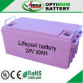 24V 25Ah lifepo4 battery used for golf car