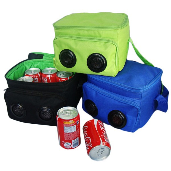 Promotion gift cooler bag with 6 bottles capacity with speaker