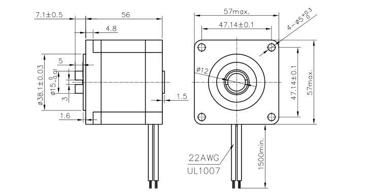 hollow shaft nema23 stepper motor for cnc machine  view