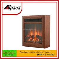 Mini wooden fireplace