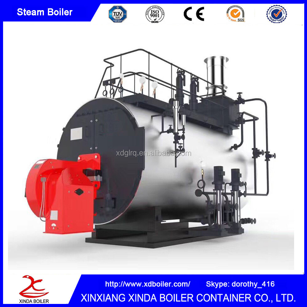 Stainless Shell Design Fire Tube Automatic Oil Gas Steam Boiler In stock