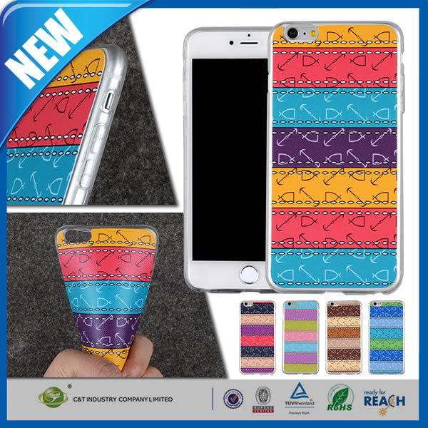C&T New Coming tpu case for iphone 6 plus with water transfer printing