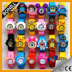 2015 Lovely animals carton colorful watch,silicone straps slap watch, children's chrismas gift