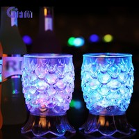 2016 colorful water induction led flashing cup
