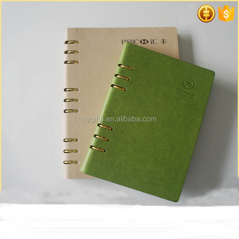 Promotional custom leather journal notebook notepad
