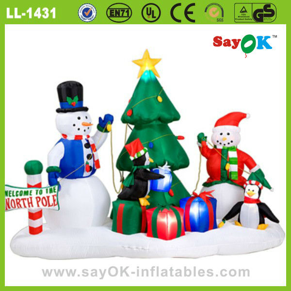 outdoor christmas decorations lighting led inflatable snowman