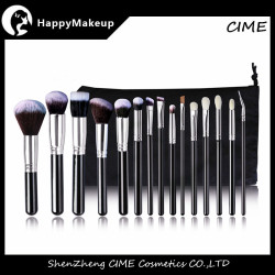 go pro 15 pcs makeup brush set kit With Sack Bag
