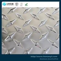 Low price 3003 1050 bright diamond aluminum plate checkper sheet