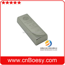 High end silver bar USB stick with logo printed, conducive to improve your grades.