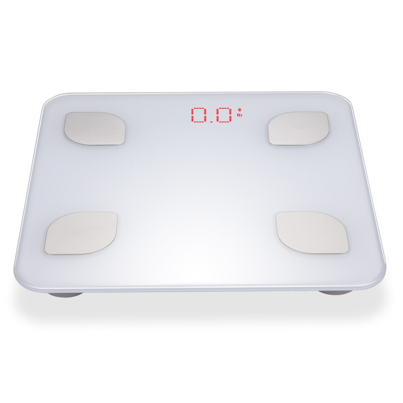 Promotional 150kg/330lb portable stainless steel electrode mini human body weighing fat scale