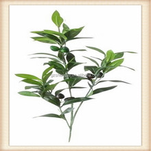 SJM091739 Outdoor&Indoor artificial leaves handmade decoration bonsai tree olive leaves