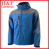 Blue and grey waterproof softshell jacket men's clothing outdoor