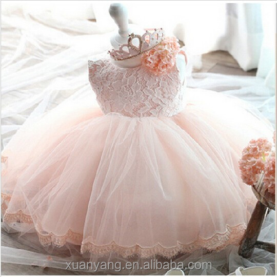 2017 modern Princess frock design Baby girl New style wedding dress suits for girls