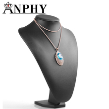 ANPHY T04-2 custom high quality PU leather jewelry pendant necklace model display bust