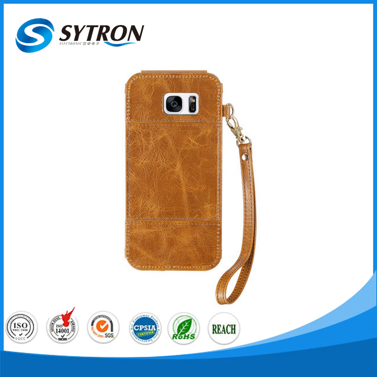 High Quality Scratch-resistance Hanging Neck Leather Case Phone Cover for Samsung galaxy j3