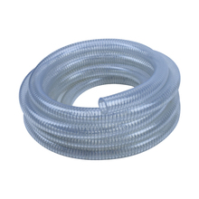 Flexible transparent pvc spiral steel wire reinforced hose